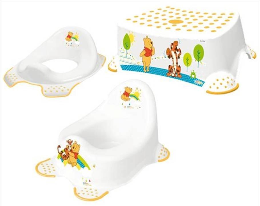 Hygienick� set HRAC� no�n�k + redukcia na WC + proti�mykov� stoli�ka Medved�k P� biely