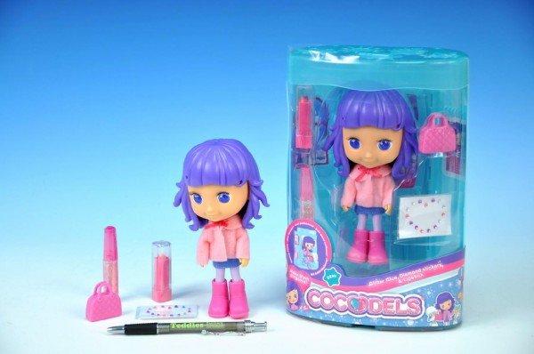 B�bika Cocodels Demi plast 16cm s izbi�kou + make-up doplnky v krabi�ke
