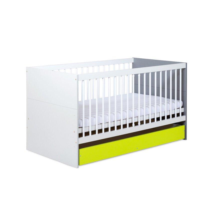 Detsk� postie�ka so z�suvkou IRENE LIME 140x70 cm