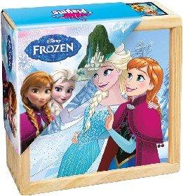DREVO Kocky dreven� detsk� obr�zkov� set 9ks �adov� Kr�ovstvo (Frozen)