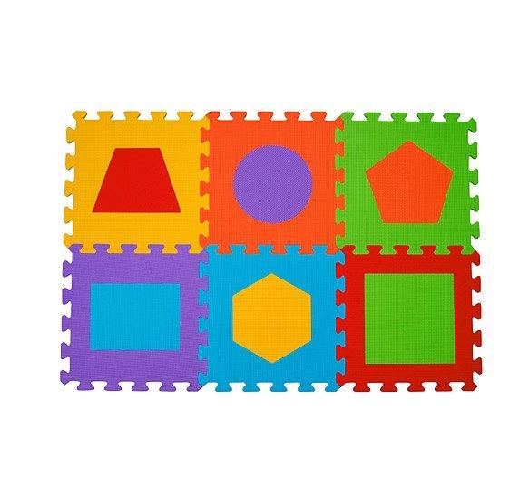 Penov� puzzle geometrick� tvary 6 ks