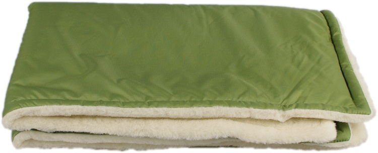 Zelen� zimn� deka merino