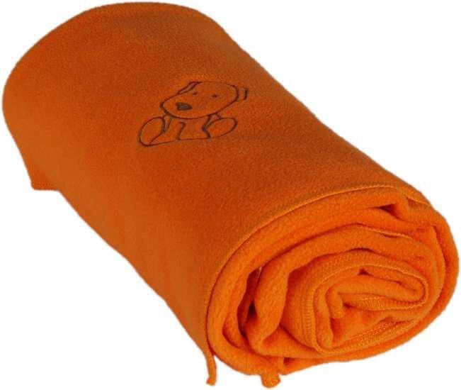 Detsk� fl�sov� deka s ps�kom 70x100 cm oran�ov�