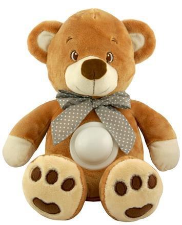 Ply�ov� hraj�ci medved�k s lampi�kou