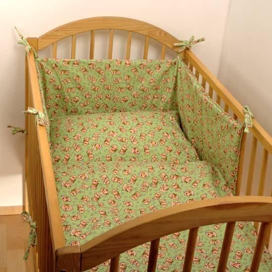 Flanelov� oblie�ky do postie�ky 90x130 cm zelen�