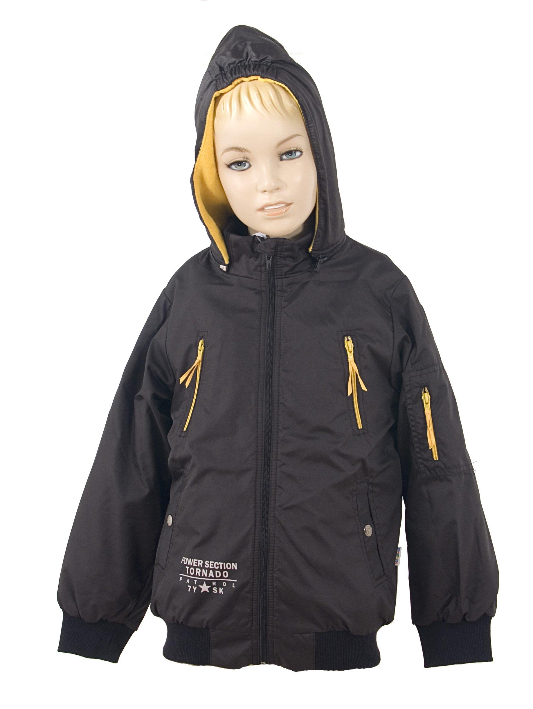Zimn� chlapeck� bunda s kapuc� pod�it� fleece velikost 128-134 V�PRODEJ