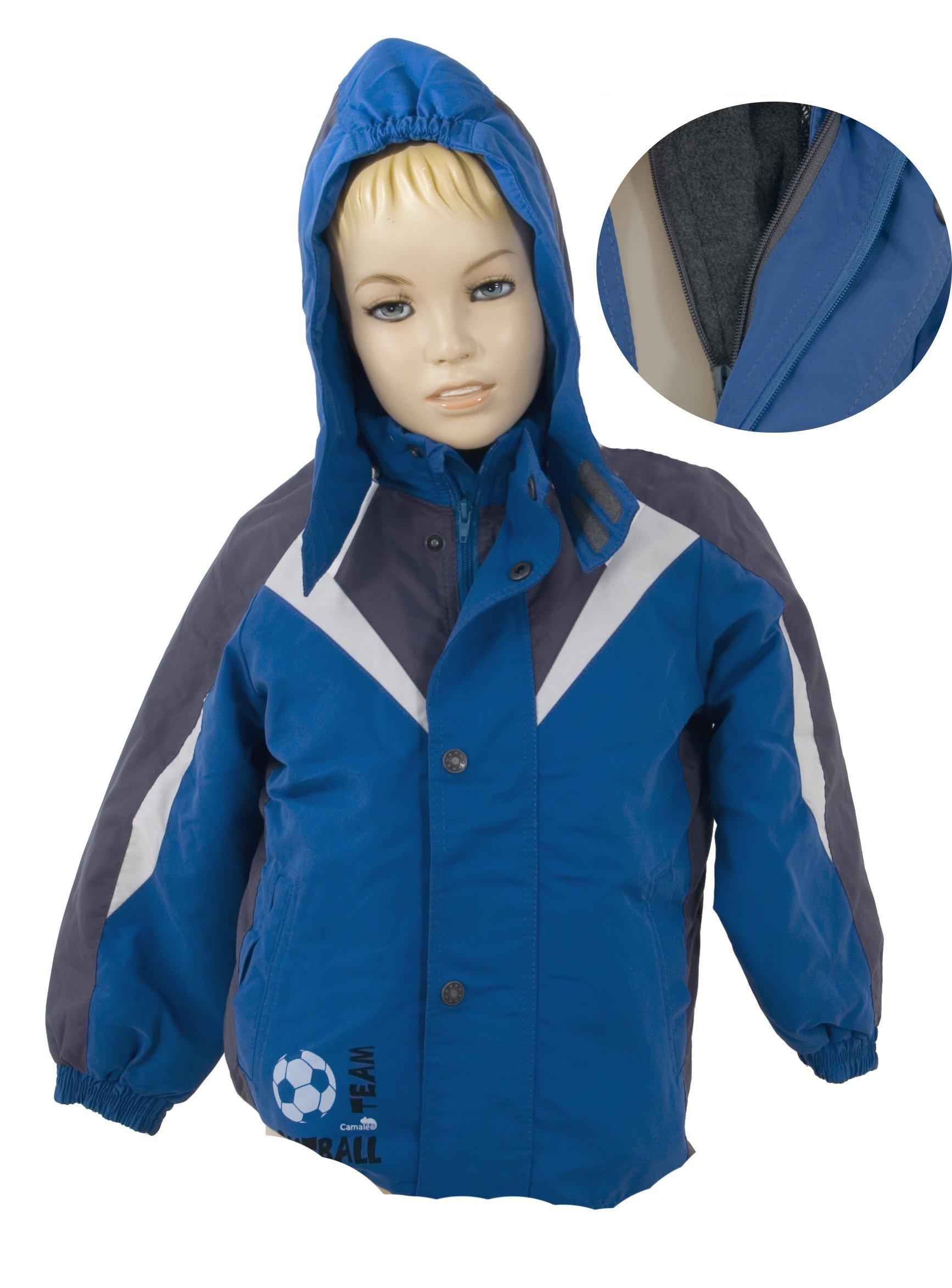 Bunda 3 v 1 s vnit�n� odep�na fleece vlo�kou a kapuc�  1212 velikost 122 - V�PRODEJ