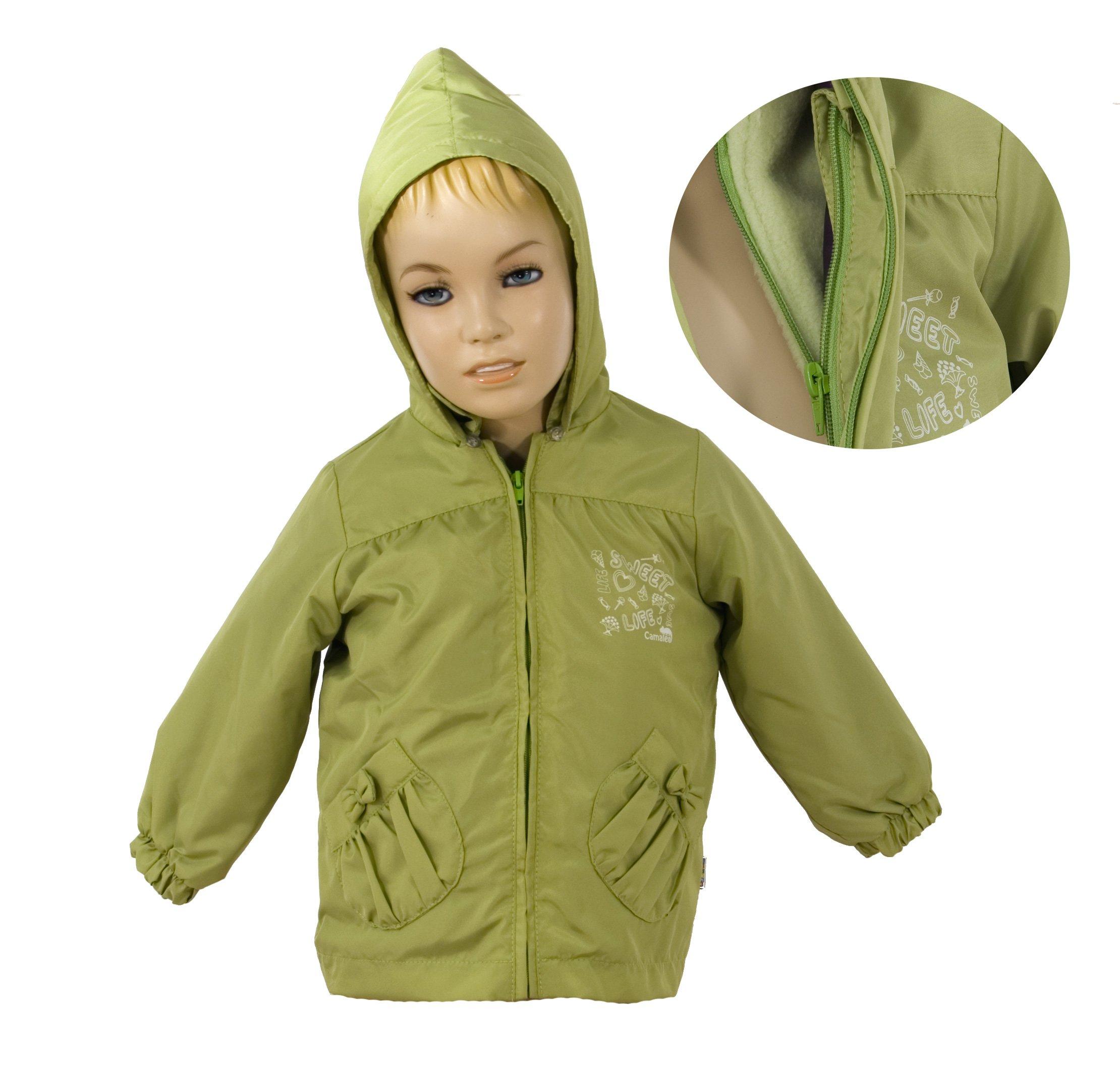 Bunda 3 v 1 s vnit�n� fleece vlo�kou a kapuc� zelen� velikost 98 - V�PRODEJ