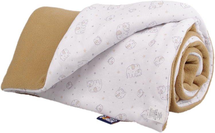 Zateplen� detsk� deka b�ov� slon�k
