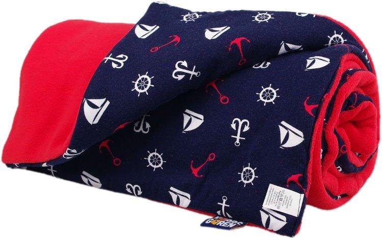 Zateplen� detsk� deka �erven� lodi�ky