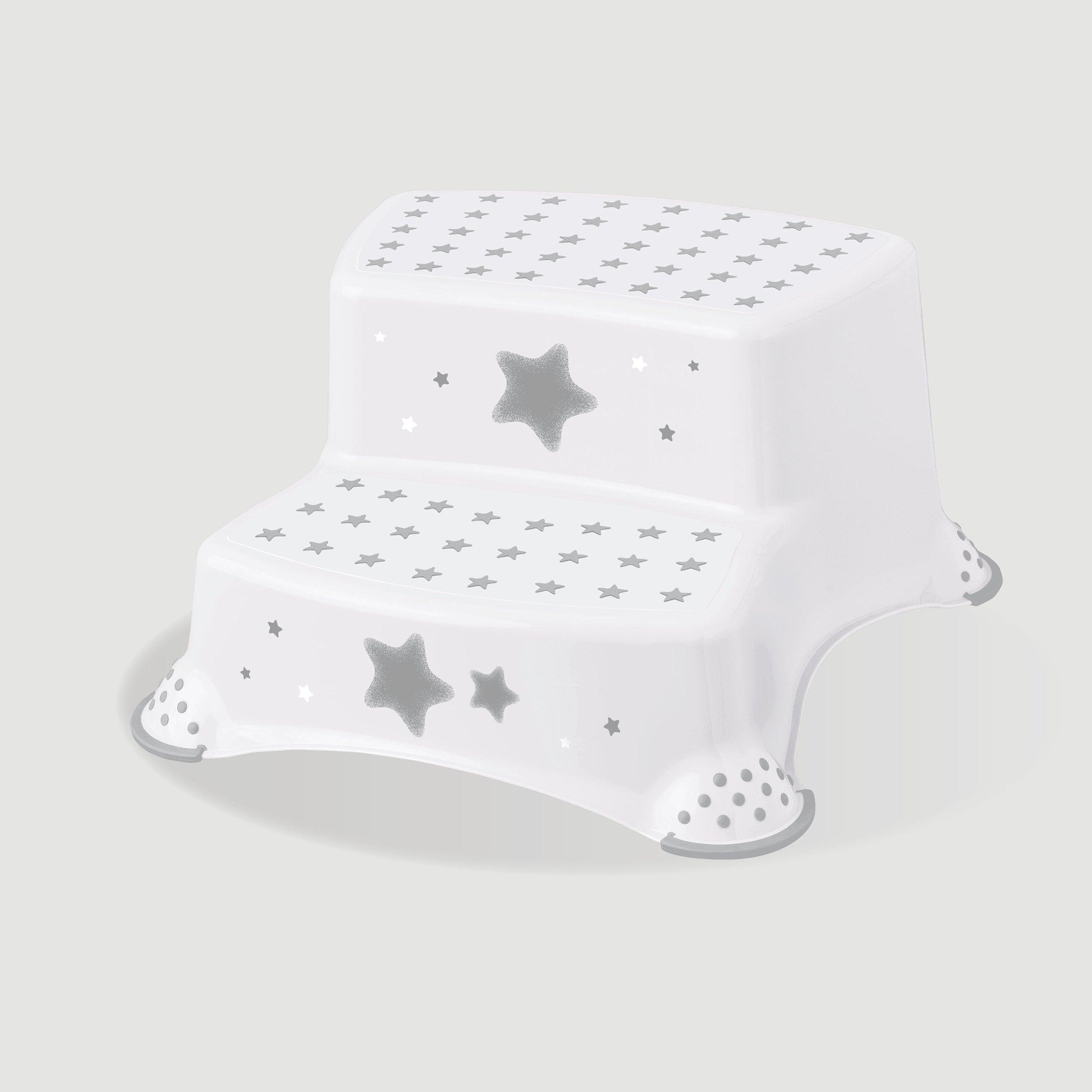 Proti�mykov� stupienok stoli�ka dvojstup�ov� stars biela