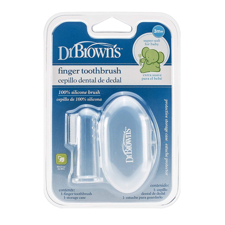 Kefka na �istenie zubov pre doj�at� na prst silik�nov� v krabi�ke