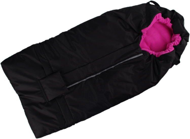 Fusak �erno-r��ov� s fleece pod��vkou