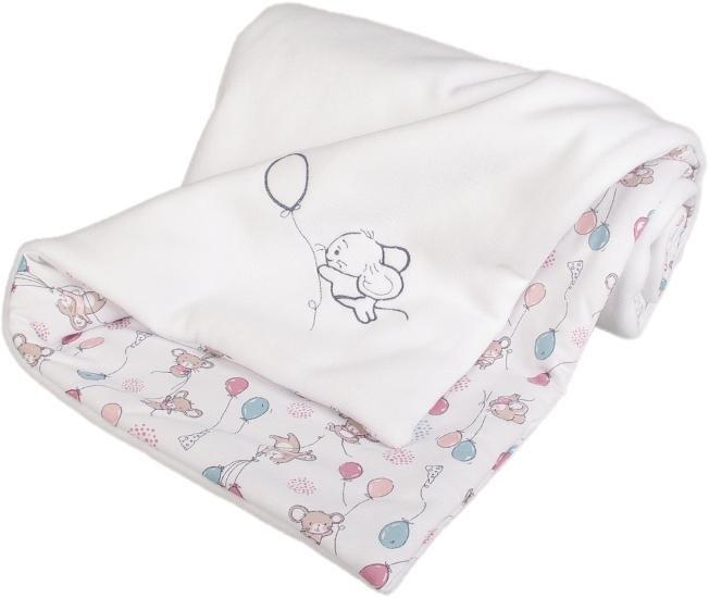 Zateplen� detsk� deka my�ky 70x100 cm biela