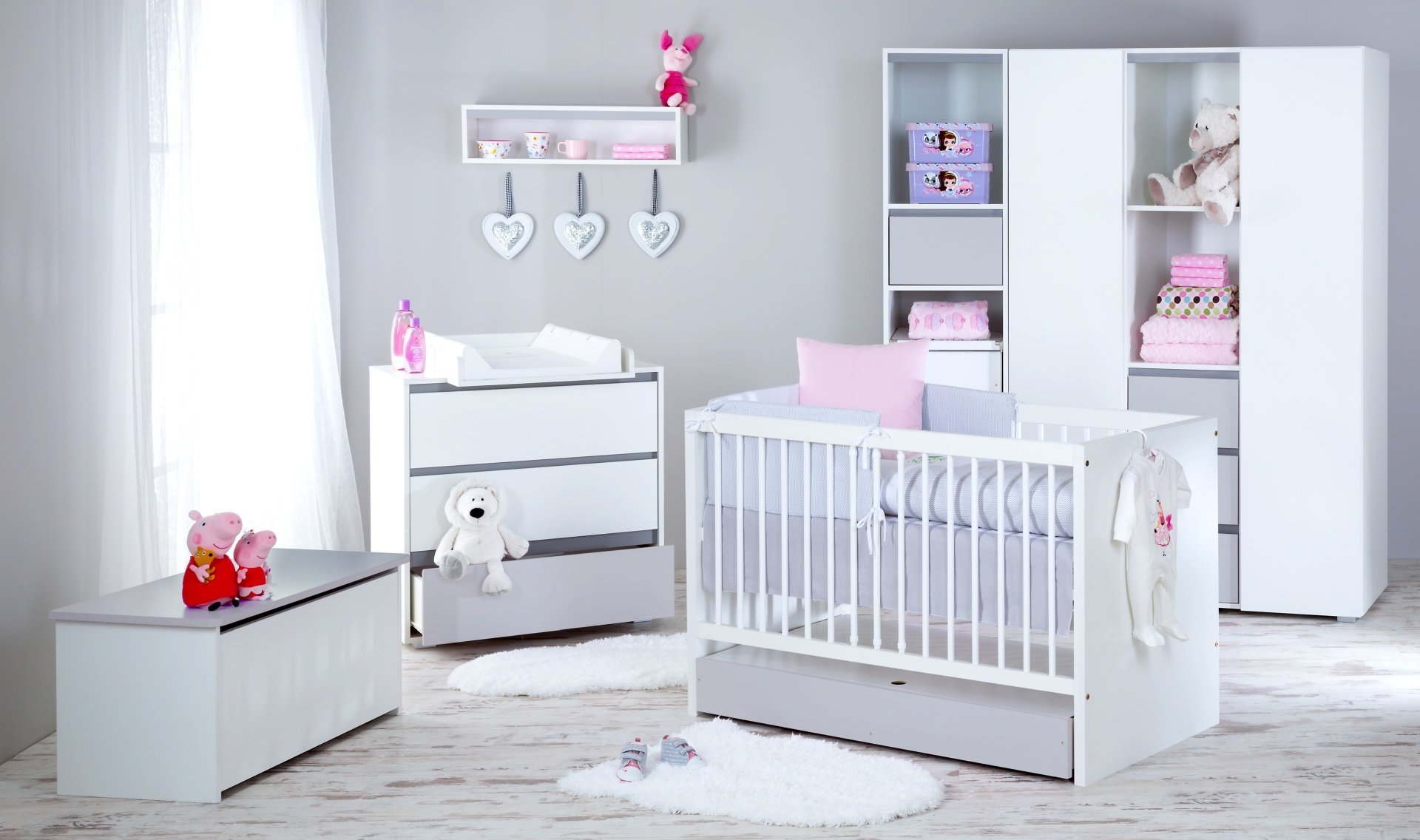 Detsk� izba Dalia s postie�kou 140x70 cm siv�