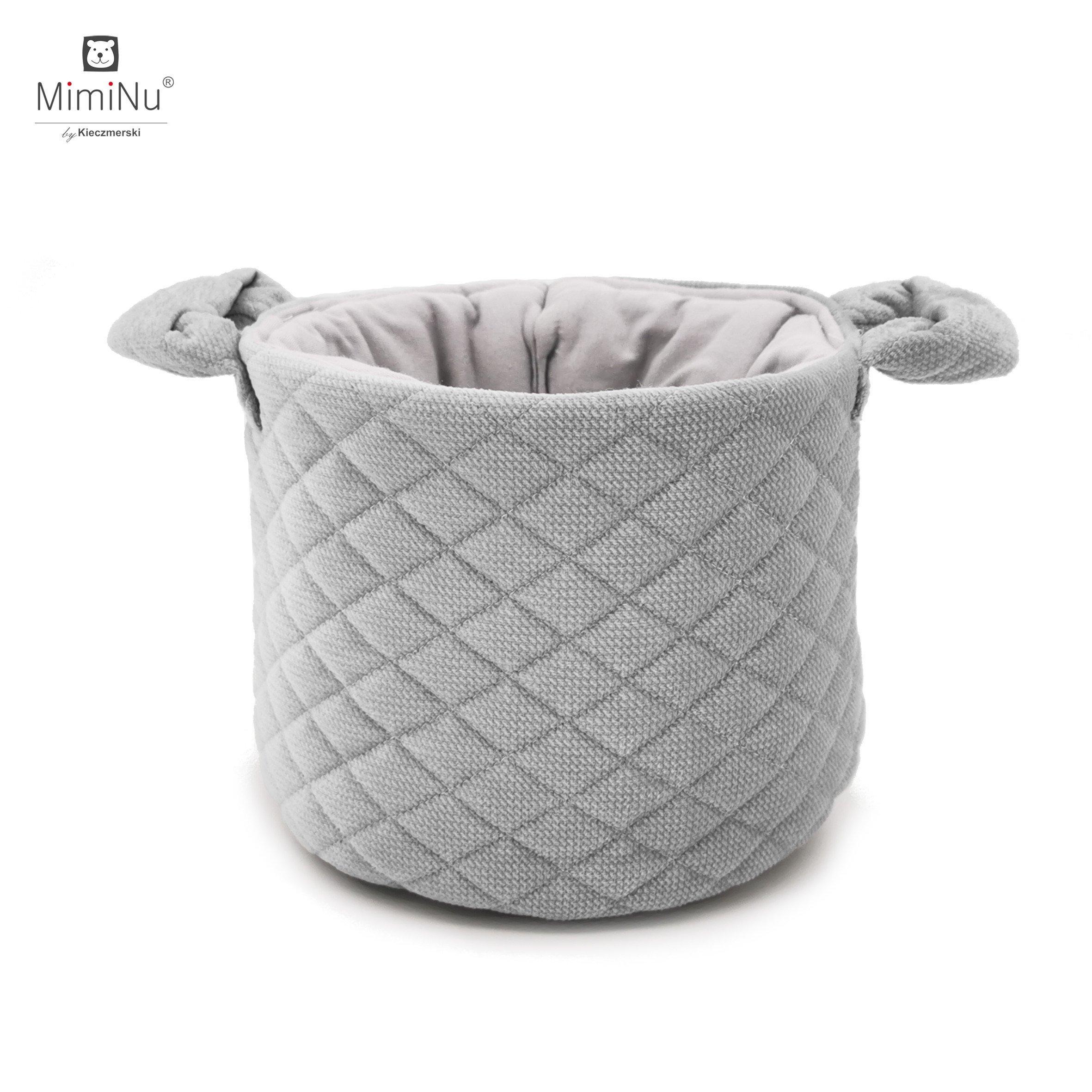 Ko��k na drobnosti Velvet + bavlna siv�