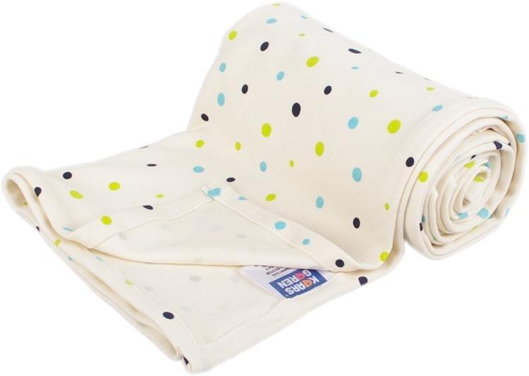 Letn� deka z biobavlny 70x100 cm s bodkami biela