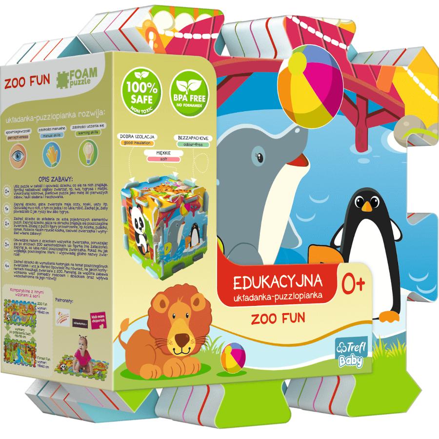 Detsk� penov� puzzle Zoo Fun 5v1 8 ks
