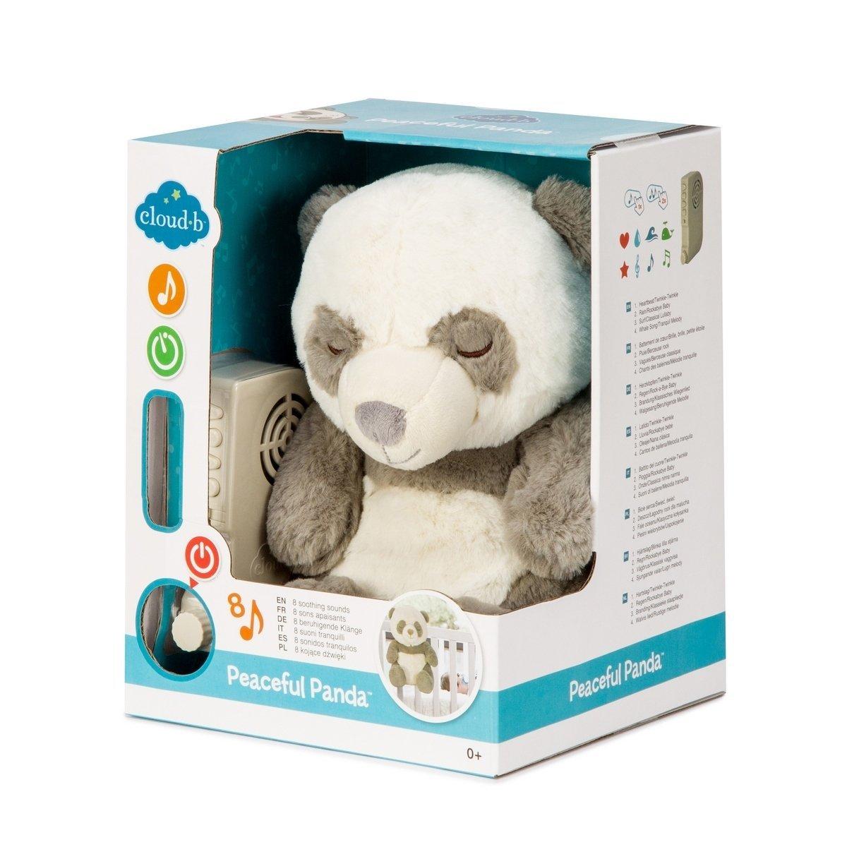 Ply�ov� hra�ka s mel�diou Panda 20 cm