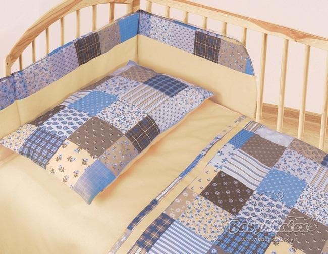 Oblie�ky patchwork modr� 3 diely blue 2