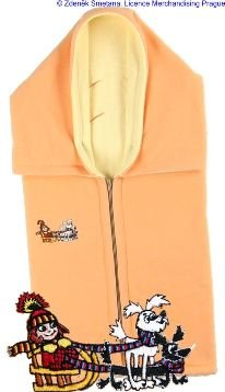 Autobag dvojit� fleece oran�ovo-�lut� s Malou �arod�jnic�