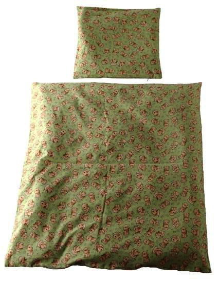 Flanelov� oblie�ky do kol�sky 70x80 cm pes zelen�