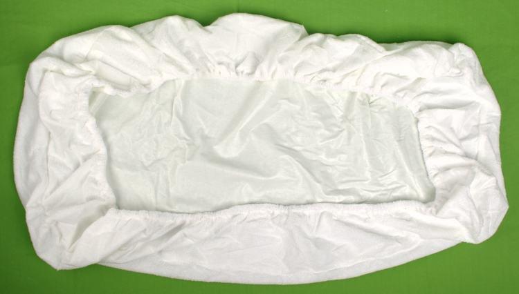 Nepriepustn� frot� plachta biela 120 x 200 cm