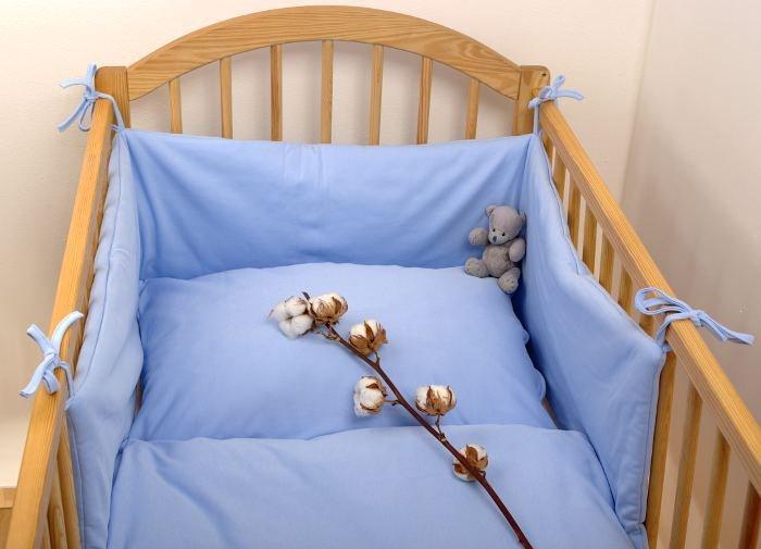 Sada oblie�ok bio bavlna 90x130 cm modr� lem