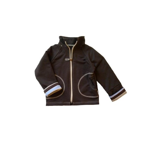 Mikina na zips s vyhr�ovac�mi ruk�vy Blue 92-98
