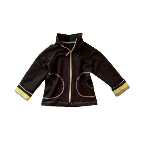 Mikina na zips s vyhr�ovac�mi ruk�vy Yellow 116-122