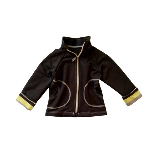 Mikina na zips s vyhr�ovac�mi ruk�vy Yellow 128-134