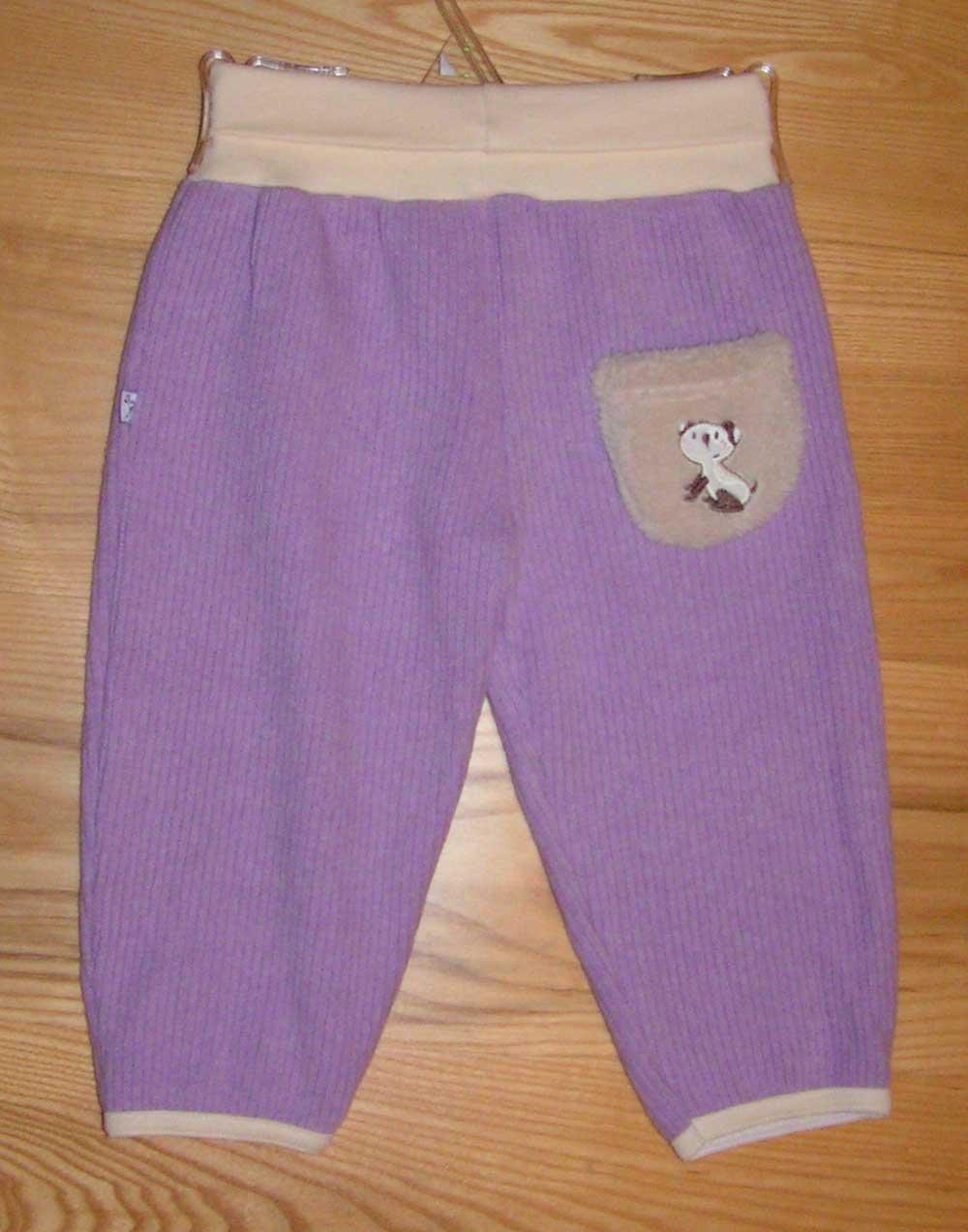Nohavice do p�sa �plet fialov� vel. 68