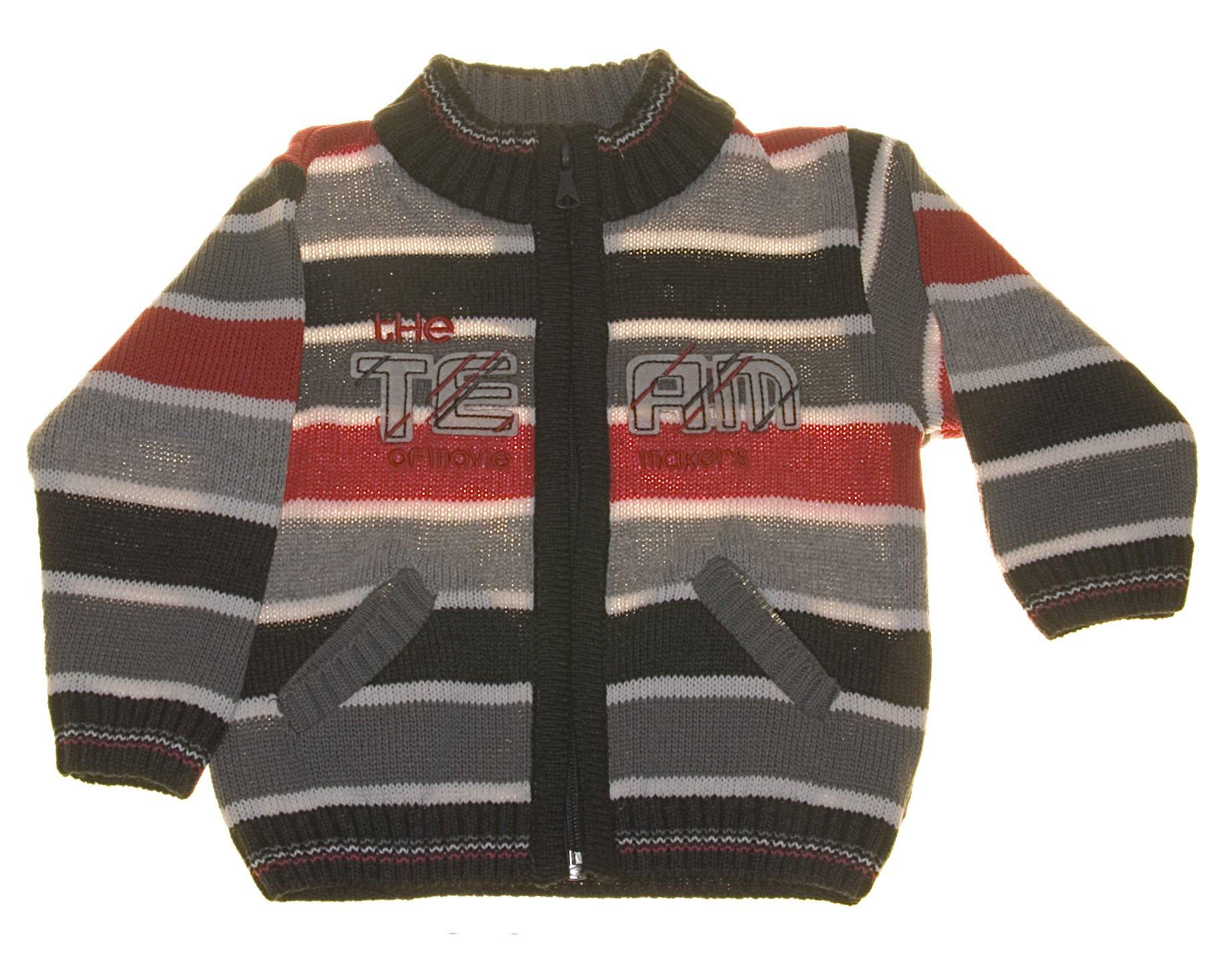 Chlapeck� pleten� svetr �erven� NM-383