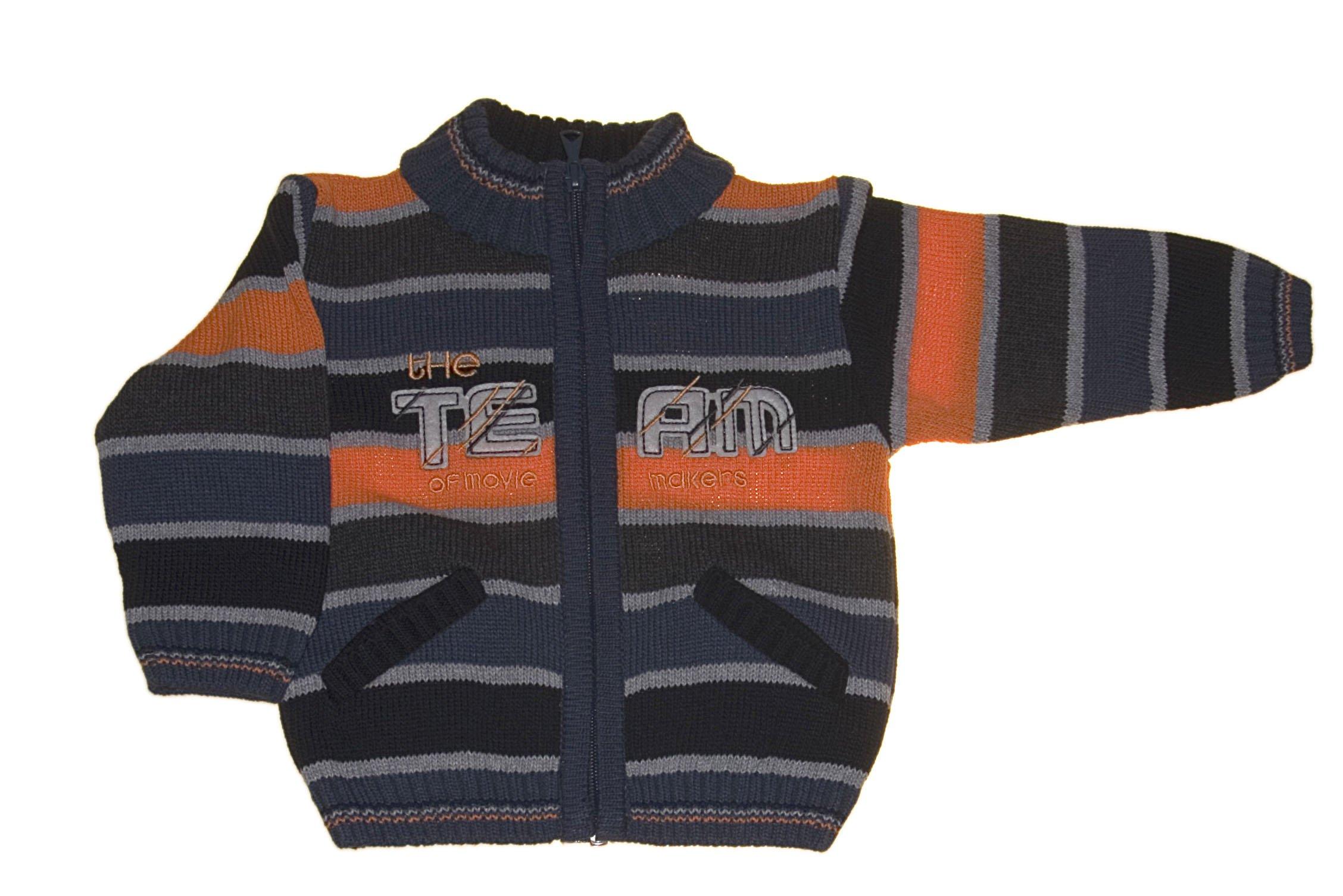 Chlapeck� pleten� svetr oran�ov� NM-383