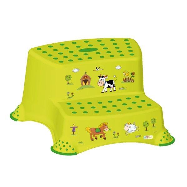 Protiskluzov� stup�nek stoli�ka dvoustup�ov� Farma zelen�