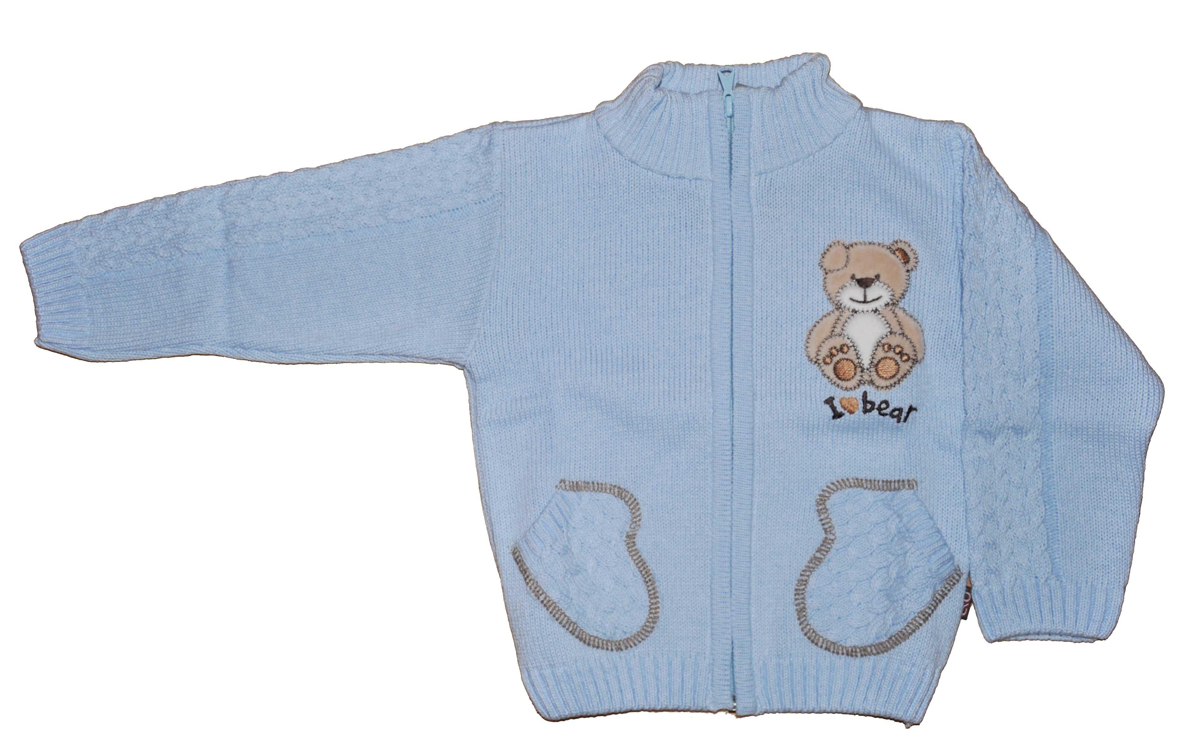 Chlapeck� pleten� svetr modr� NM-395