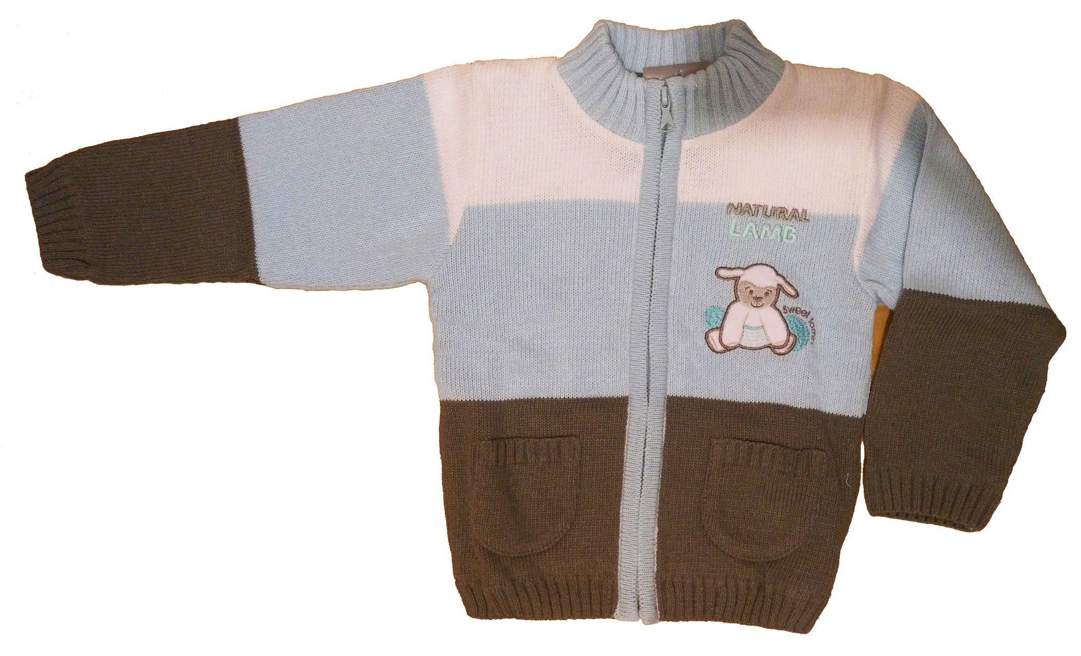 Chlap�ensk� pleten� sveter modr� NM-397