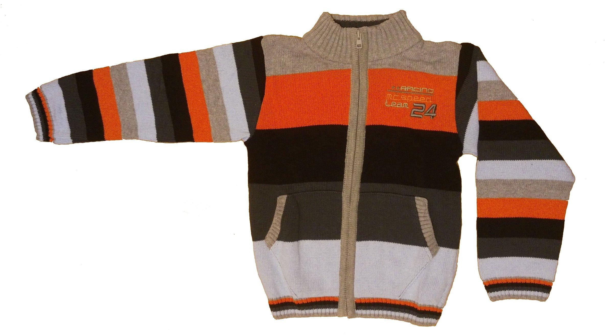 Chlapeck� pleten� svetr oran�ov� CH-287