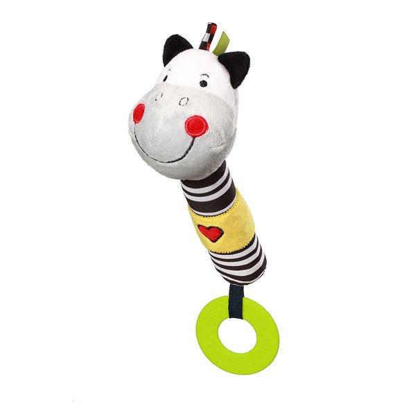 P�skacia hra�ka s hryz�tkami zebra Zack - zv��i� obr�zok