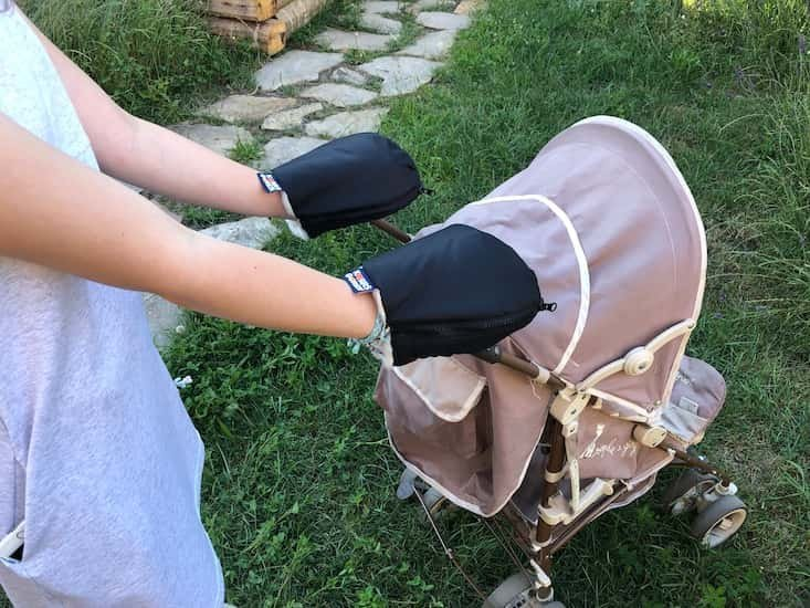 Nepromokav� merino rukavice �ern� na ko��rek - zv��i� obr�zok