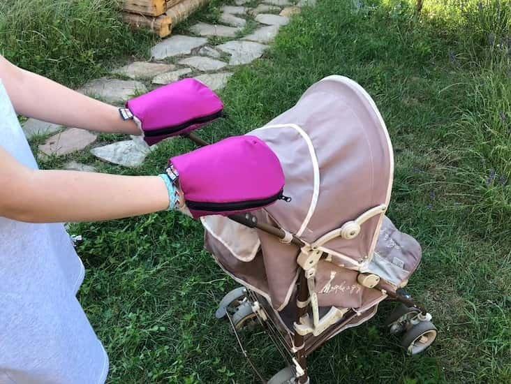 Nepromokav� merino rukavice fialov� na ko��rek - zv��i� obr�zok