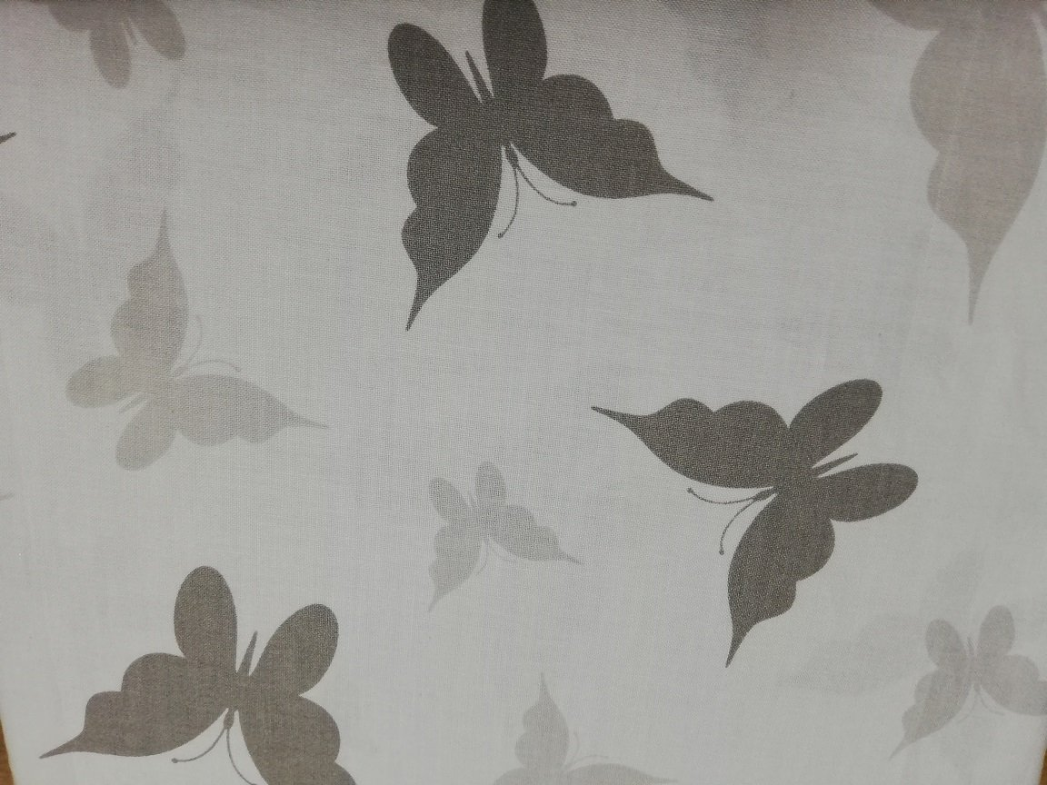 Bavlnen� plachta 120x60 cm biele so siv�mi mot�liky - zv��i� obr�zok