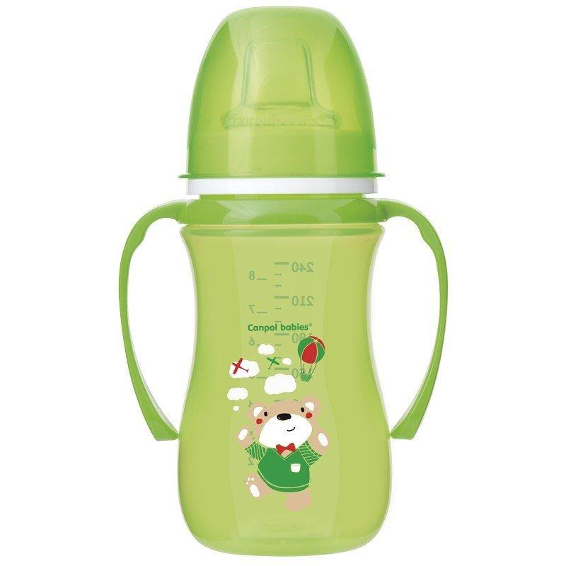 Tr�ninkov� hrn��ek EasyStart Sweet Fun 240 ml zelen� - zv��i� obr�zok