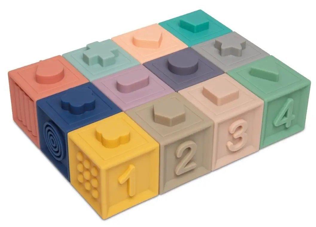M�kk� senzorick� hracie kocky 12 ks - zv��i� obr�zok