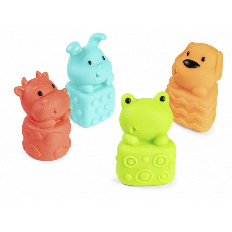 Sada gumov�ch hra�iek do vane s p�skatkom zvieratka - zv��i� obr�zok
