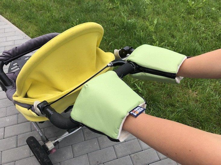 Zelen� rukavice na ko��rek biobavlna - zv��i� obr�zok