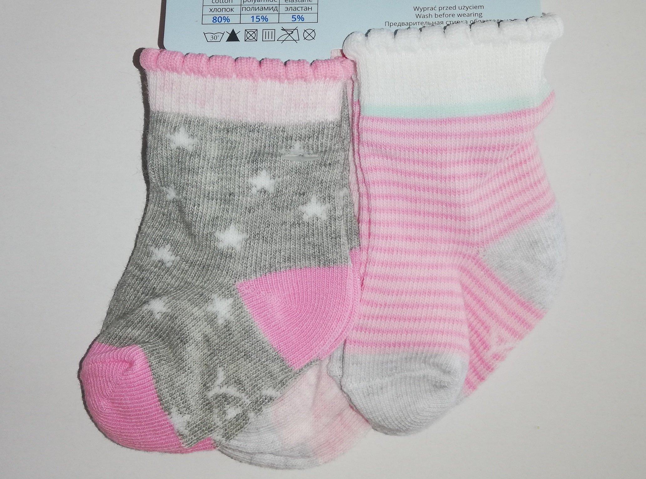 Pono�ky kojeneck� 3 p�ry v balen� 3-6m barevn� holka - zv��i� obr�zok