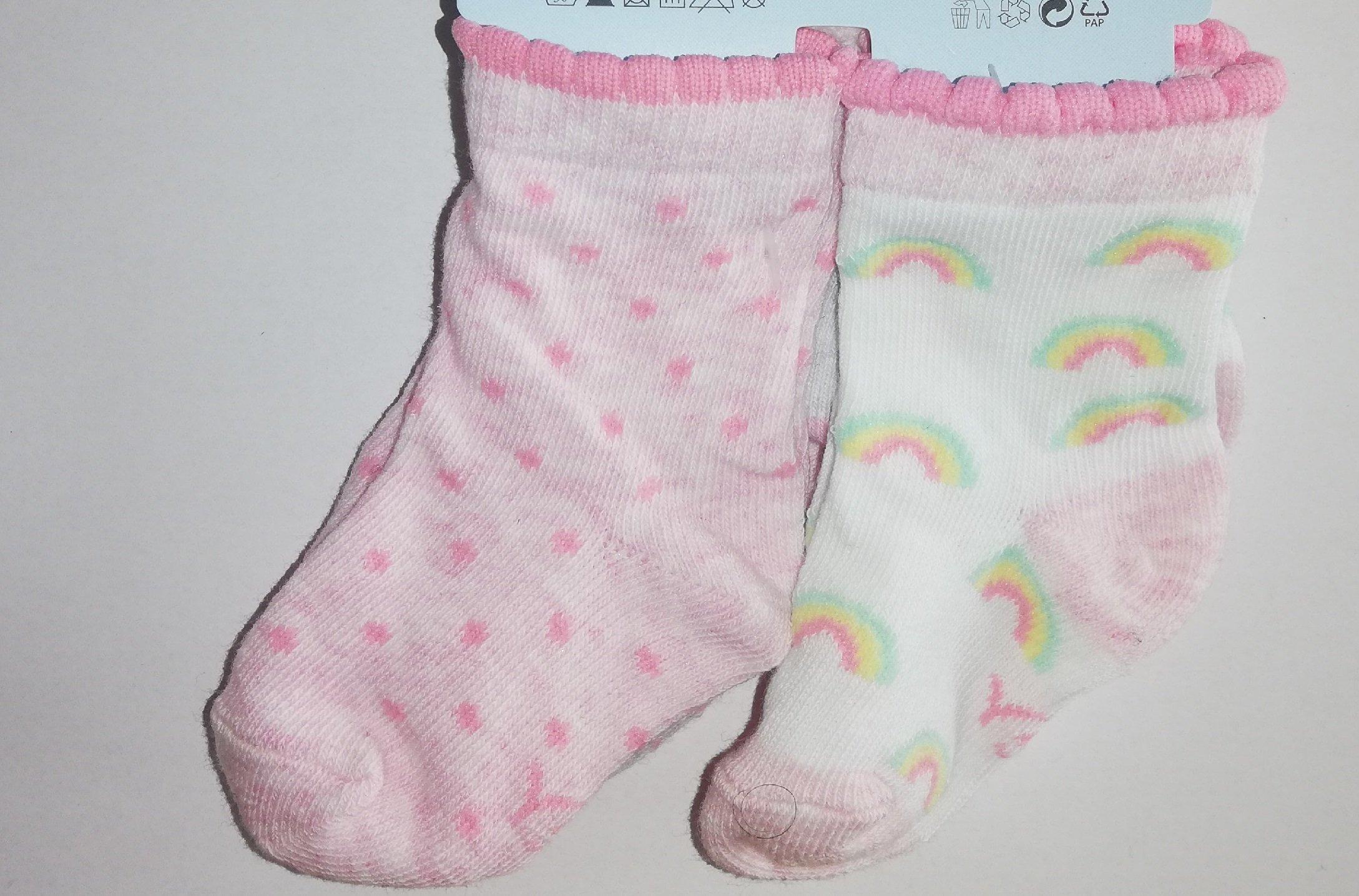 Pono�ky kojeneck� 3 p�ry v balen� 6-9m barevn� holka - zv��i� obr�zok