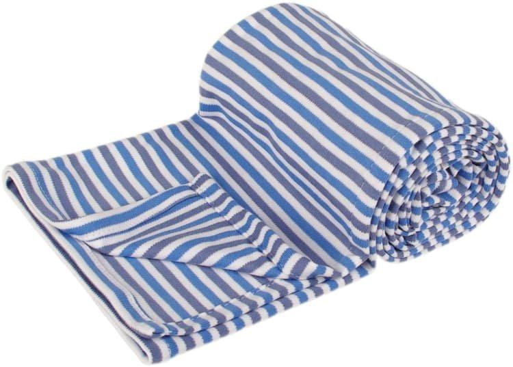 Letn� deka 70x100cm modr� prou�ky - zv��i� obr�zok