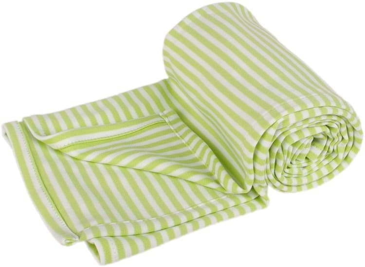 Letn� deka 100x150cm zelen� prou�ky - zv��i� obr�zok